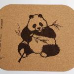Tapis de souris en liège recyclé- panda- 190 x 230m - épaisseur 2 mm- traité anti-salissure et anti-chaleur
