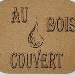 Tapis de souris en liège recyclé -190 x 230m- Logo Entreprise Au Bois Couvert -épaisseur 2 mm- traité anti-salissure et anti-chaleur