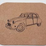 Tapis de souris en liège recyclé -190 x 230m- 2 CV-épaisseur 2 mm- traité anti-salissure et anti-chaleur
