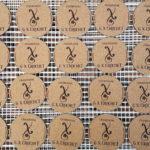 Séchage des Sous-verres -Champagne G. X. CROCHET- 3 mm-traité