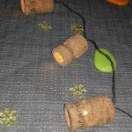 "Guirlande lumineurse ""la Saumur"" en bouchons en liège-Chemin de table -Arts de la Table"