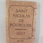 Magnet en bouchon en liège-St Nicolas de Bourgueil 2017 - aimant à coller sur un tableau magnétique ou un frigo