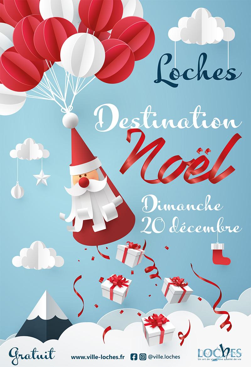 affiche de Loches-Destination Noël 2020